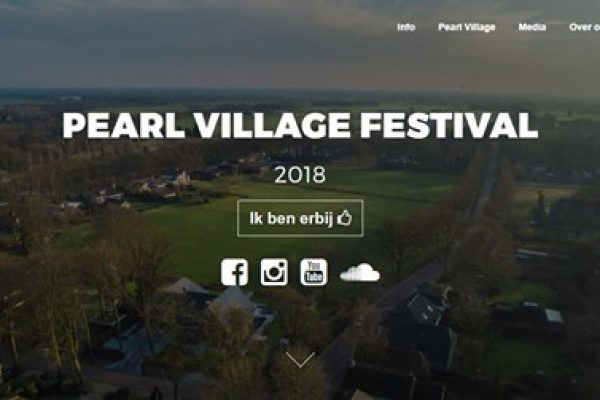 Nieuwe website Pearl Village Festival 2018